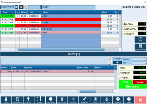 Commandes Gestion Magasin