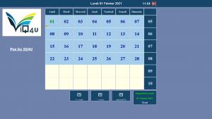 Kalender scherm